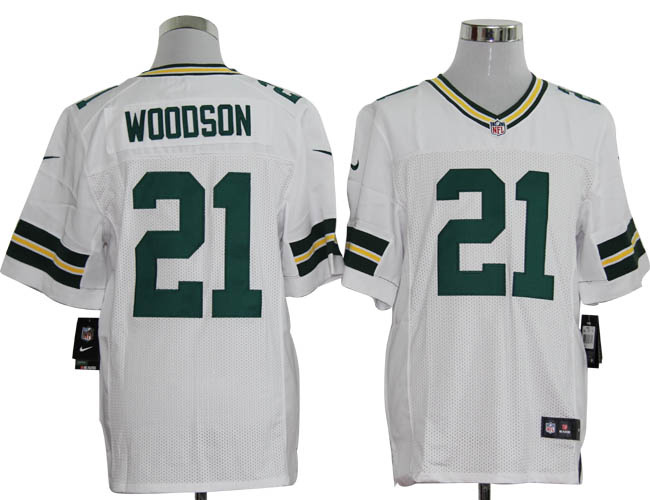 Size 60 4XL-Charles Woodson Green Bay Packers #21 White Stitched Nike Elite NFL Jerseys