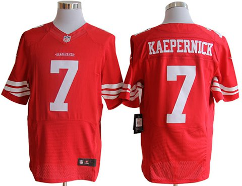 5a99c13eb Size 60 4XL-Colin Kaepernick San Francisco 49ers #7 Red Stitched Nike Elite  NFL Jerseys