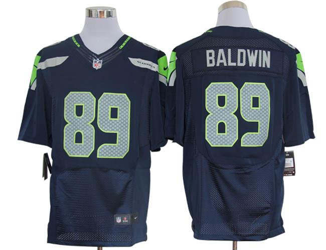 Size 60 4XL-Doug Baldwin Seattle Seahawks #89 Pacific Blue Stitched Nike Elite NFL Jerseys