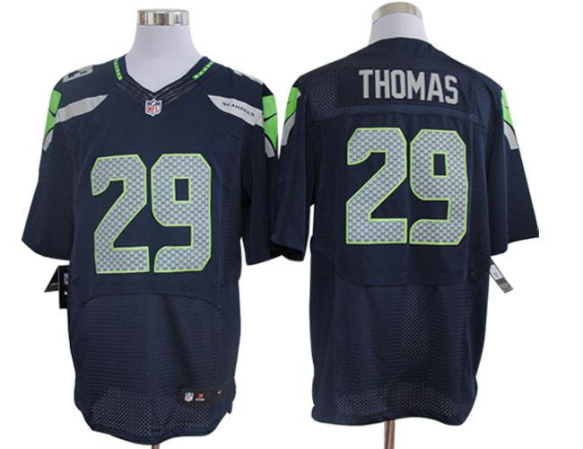 Size 60 4XL-Earl Thomas Seattle Seahawks #29 Pacific Blue Nike Elite NFL Jerseys
