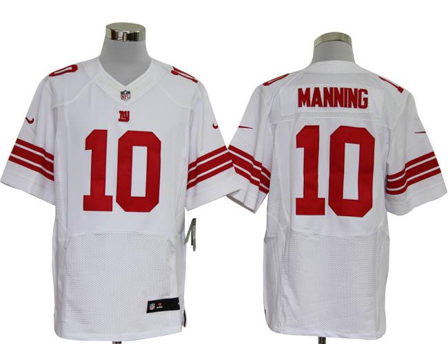 Size 60 4XL-Eli Manning New York Giants #10 White Stitched Nike Elite NFL Jerseys