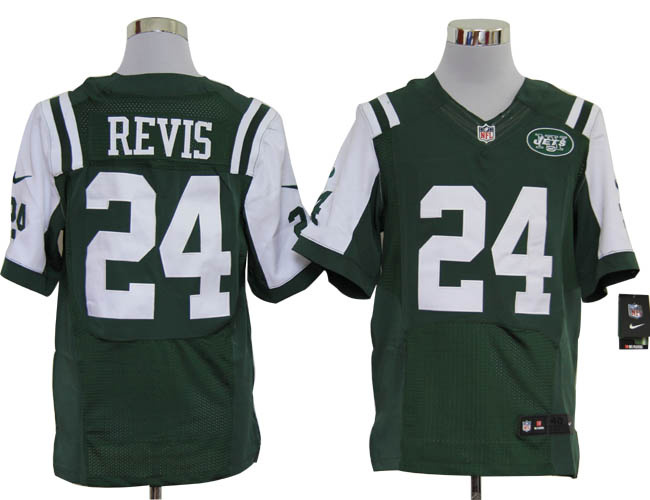 Size 60 4XL-Darrelle Revis New York Jets #24 Green Stitched Nike Elite NFL Jerseys