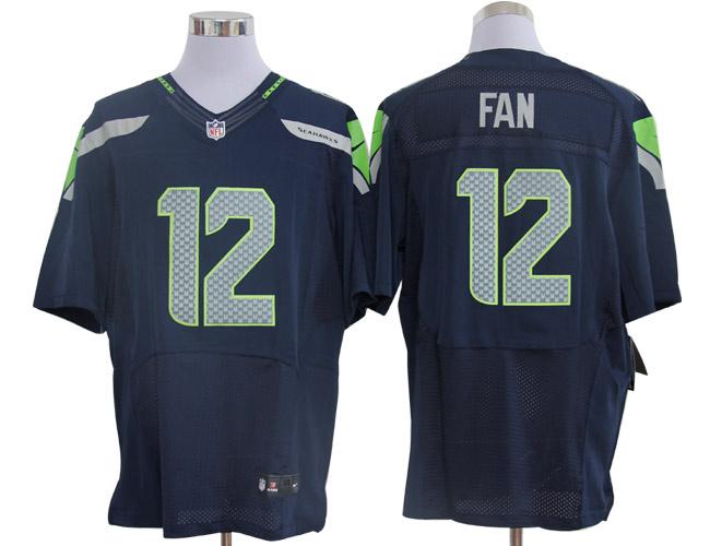 Size 60 4XL-Fan Seattle Seahawks #12 Pacific Blue Stitched Nike Elite NFL Jerseys