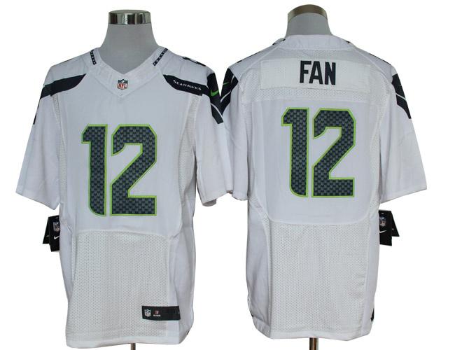 Size 60 4XL-Fan Seattle Seahawks #12 White Nike Elite NFL Jerseys