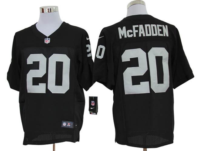 Size 60 4XL-Darren McFadden Oakland Raiders #20 Black Stitched Nike Elite NFL Jerseys