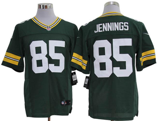 Size 60 4XL-Greg Jennings Green Bay Packers #85 Green Stitched Nike Elite NFL Jerseys