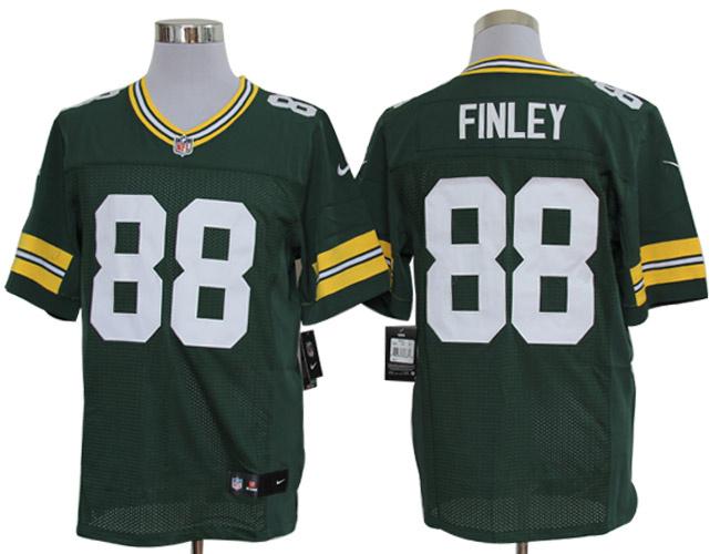 Size 60 4XL-Green Bay Packers #88 Jermichael Finley Green Nike NFL Elite Jerseys