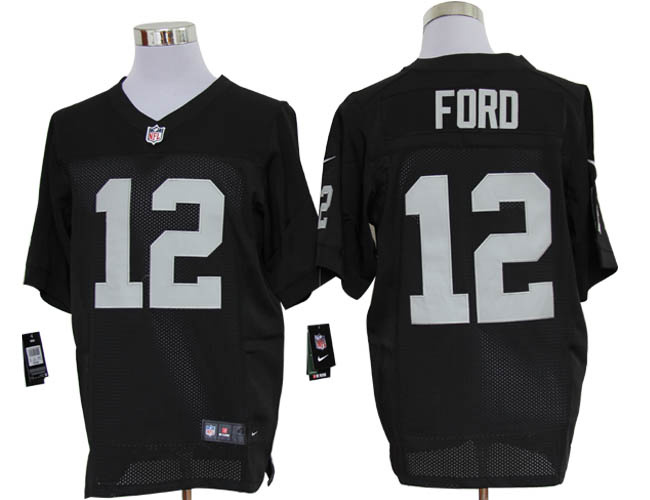 hot sale online 437a9 86655 Size 60 4XL-Jacoby Ford Oakland Raiders #12 Black Stitched ...