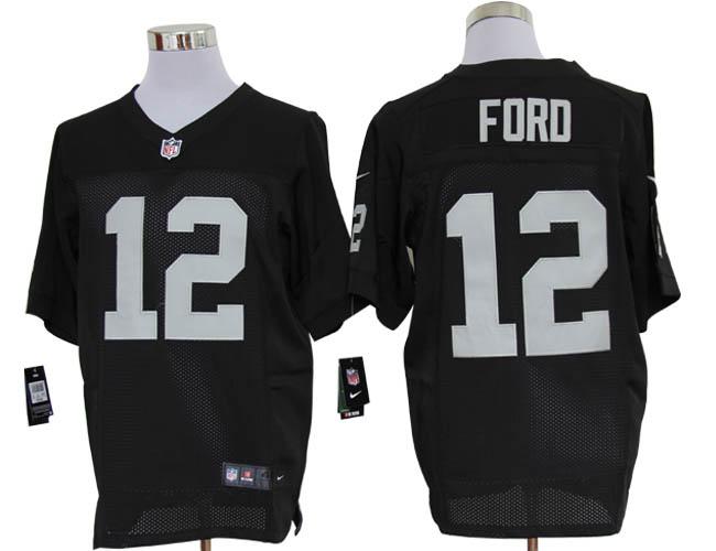 Size 60 4XL-Jacoby Ford Oakland Raiders #12 Black Stitched Nike Elite NFL Jerseys