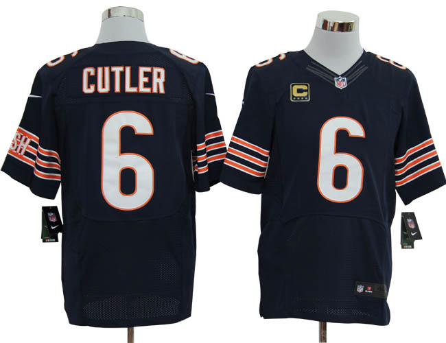 Size 60 4XL-Jay Cutler Chicago Bears  6 C Patch Blue Stitched Nike Elite 94d7b17d2
