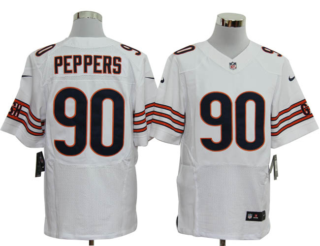 Size 60 4XL-Julius Peppers Chicago Bears #90 White Stitched Nike Elite NFL Jerseys