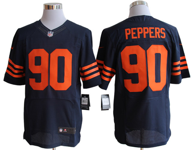 Size 60 4XL-Julius Peppers Chicago Bears #90 Blue&Yellow Stitched Nike Elite NFL Jerseys