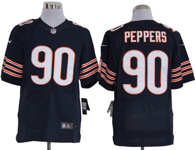 Size 60 4XL-Julius Peppers Chicago Bears #90 Blue Stitched Nike Elite NFL Jerseys