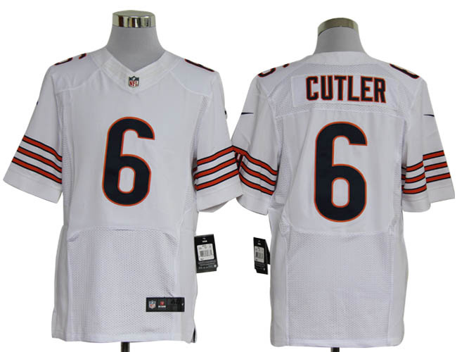 Size 60 4XL-Jay Cutler Chicago Bears  6 White Stitched Nike Elite NFL  Jerseys acd536f52