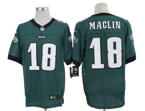 Size 60 4XL-Jeremy Maclin Philadelphia Eagles #18 Green Stitched Nike Elite NFL Jerseys