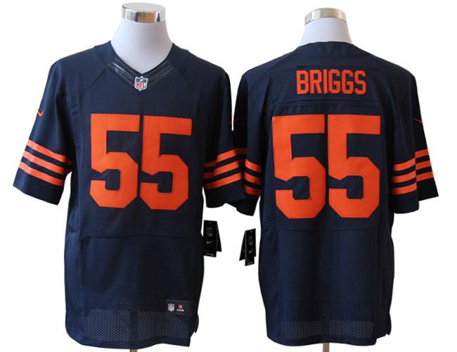 Size 60 4XL-Lance Briggs Chicago Bears #55 Blue&Yellow Stitched Nike Elite NFL Jerseys