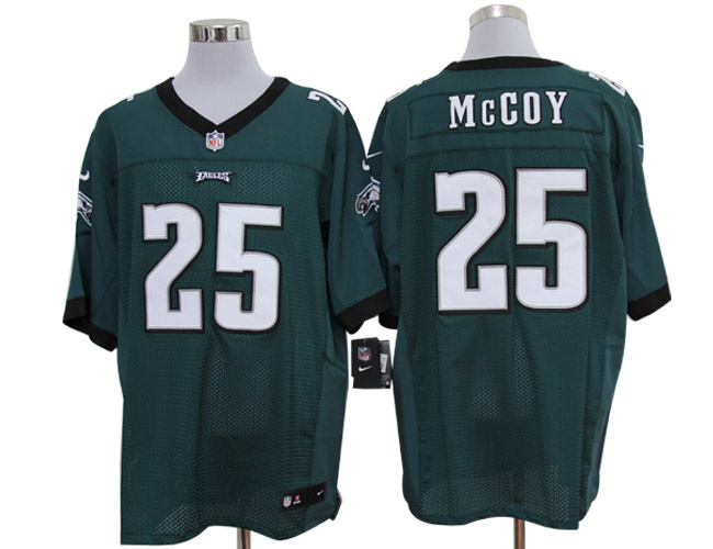 Size 60 4XL-LeSean McCoy Philadelphia Eagles #25 Green Stitched Nike Elite NFL Jerseys