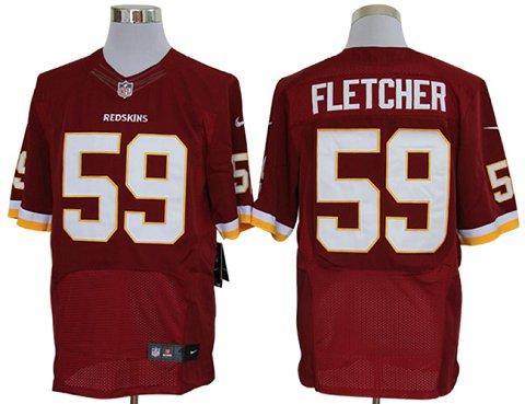 Size 60 4XL-London Fletcher Washington Redskins #59 Red Stitched Nike Elite NFL Jerseys