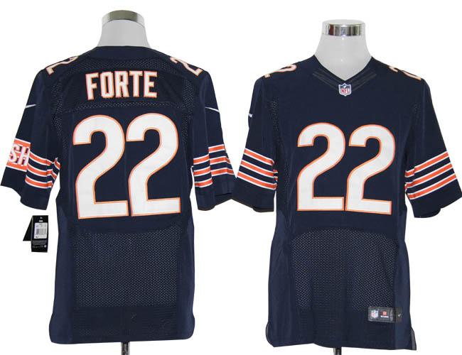 Size 60 4XL-Matt Forte Chicago Bears #22 Blue Stitched Nike Elite NFL Jerseys