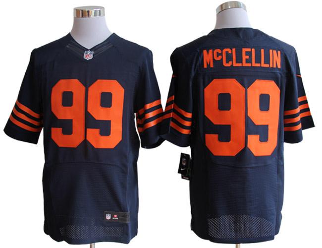 Size 60 4XL-McClellin Chicago Bears #99 Blue&Orange Stitched Nike Elite NFL Jerseys