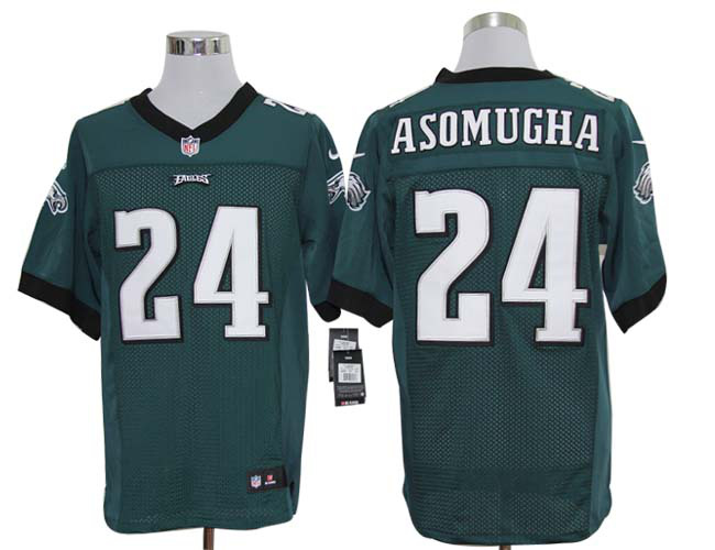 Size 60 4XL-Nnamdi Asomugha Philadelphia Eagles #24 Green Stitched Nike Elite NFL Jerseys