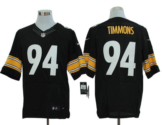 Size 60 4XL-Nike Pittsburgh Steelers 94 Timmons Blck Elite NFL Jersey