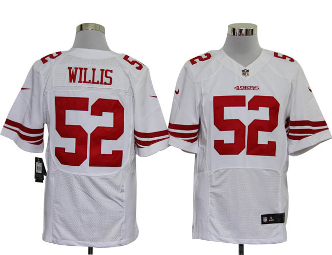 Size 60 4XL-Patrick Willis San Francisco 49ers #52 White Stitched Nike Elite NFL Jerseys