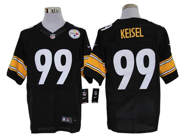 Size 60 4XL-Pittsburgh Steelers #99 Brett Keisel Black Stitched Nike Elite NFL Jerseys