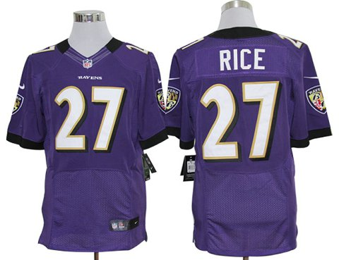 Size 60 4XL-Ray Rice Baltimore Ravens #27 Purple Stitched Nike Elite NFL Jerseys