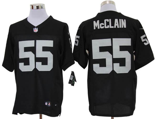 Size 60 4XL-Rolando McClain Oakland Raiders #55 Black Stitched Nike Elite NFL Jerseys