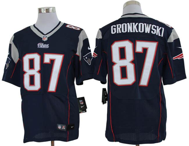 Size 60 4XL-Rob Gronkowski New England Patriots #87 Blue Stitched Nike Elite NFL Jerseys
