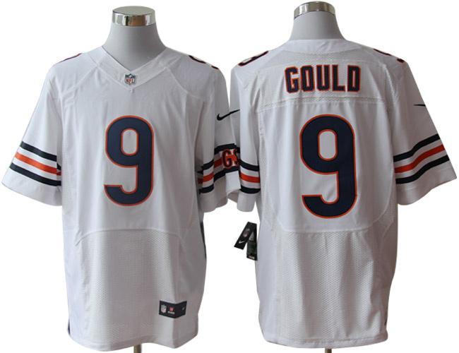 Size 60 4XL-Robbie Gould Chicago Bears #9 White Stitched Nike Elite NFL Jerseys