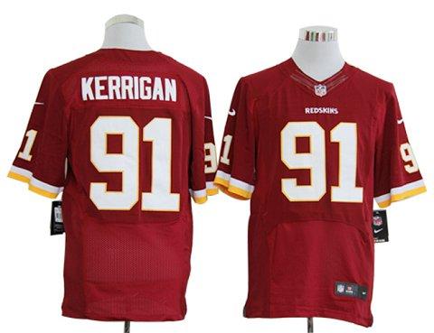 Size 60 4XL-Ryan Kerrigan Washington Redskins #91 Red Stitched Nike Elite NFL Jerseys
