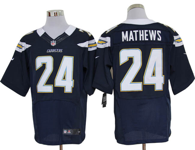 Size 60 4XL-Ryan Mathews San Diego Chargers  24 Dark Blue Stitched Nike  Elite fd2160aa7