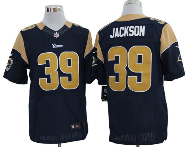 Size 60 4XL-Steven Jackson St. Louis Rams #39 Blue Stitched Nike Elite NFL Jerseys