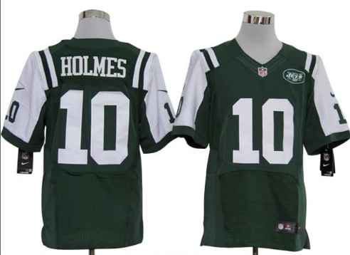Size 60 4XL-Santonio Holmes New York Jets #10 Green Stitched Nike Elite NFL Jerseys