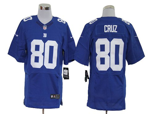 Size 60 4XL-Victor Cruz New York Giants #80 Blue Stitched Nike Elite NFL Jerseys