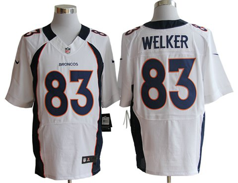 Size 60 4XL-Welker Denver Broncos #83 White Stitched Nike Elite NFL Jerseys