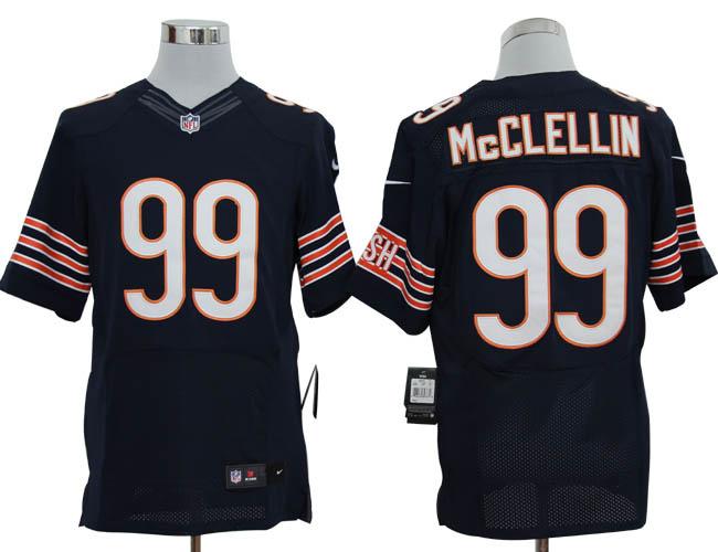 Size 60 4XL-Shea McClellin Chicago Bears #99 Blue Stitched Nike Elite NFL Jerseys