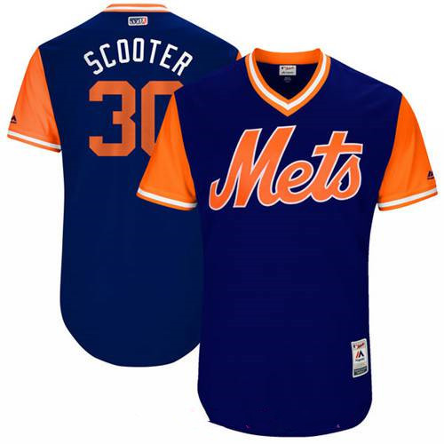 Men's New York Mets Michael Conforto Scooter Majestic Royal 2017 Little League World Series Players Weekend Stitched Nickname Jersey