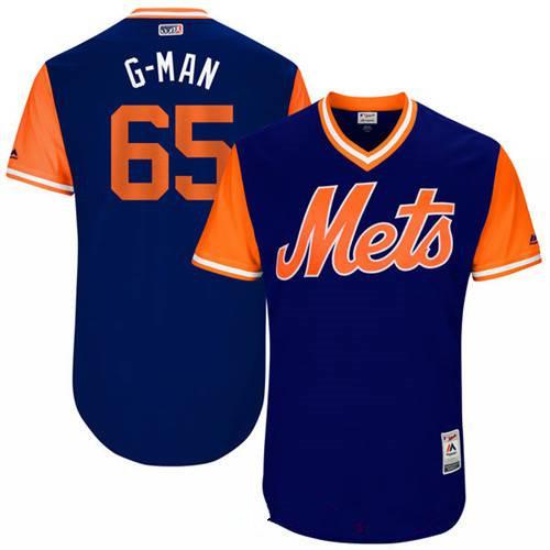 Men's New York Mets Robert Gsellman G-Man Majestic Royal 2017 Little League World Series Players Weekend Stitched Nickname Jersey