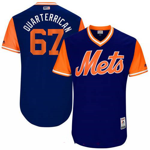 Men's New York Mets Seth Lugo Quarterrican Majestic Royal 2017 Little League World Series Players Weekend Stitched Nickname Jersey