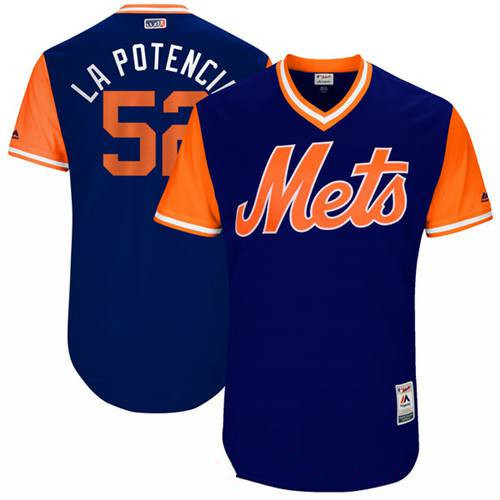 Men's New York Mets Yoenis Cespedes La Potencia Majestic Royal 2017 Little League World Series Players Weekend Stitched Nickname Jersey