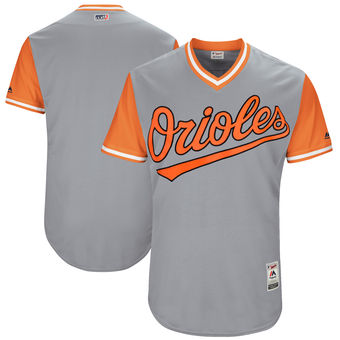 4392f28c4f4 Custom Men s Baltimore Orioles Majestic Gray 2017 Players Weekend Authentic  Team Jersey