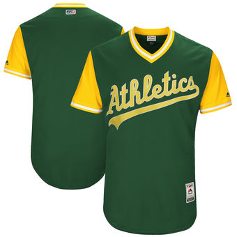 Custom Men's Oakland Athletics Majestic Green 2017 Players Weekend Authentic Team Jersey