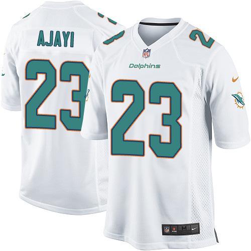 96ea1edc Youth Nike Miami Dolphins #23 Jay Ajayi White Stitched NFL Elite ...