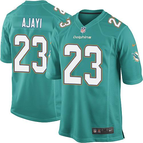 Youth Nike Miami Dolphins #23 Jay Ajayi Aqua Green Team Color Stitched NFL Elite Jersey