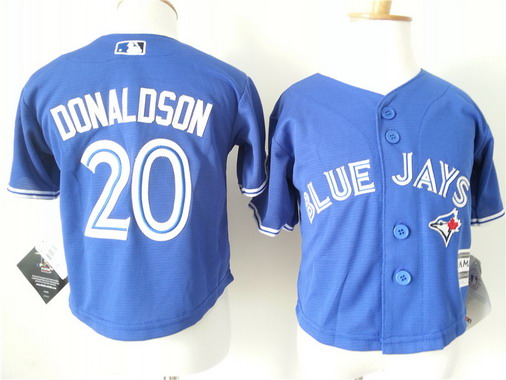 Toddler Toronto Blue Jays #20 Josh Donaldson Alternate Blue MLB Majestic Baseball Jersey
