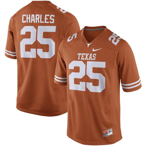 1d703eb01 Men's Texas Longhorns 25 Jamaal Charles Orange Nike College Jersey