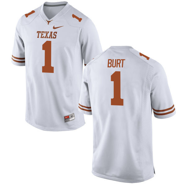 Men's Texas Longhorns 1 John Burt White Nike College Jersey